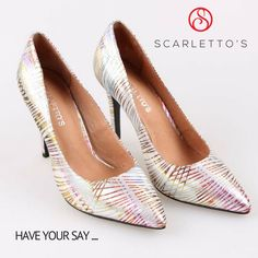 Ok ladies - Sneak Peek Time! This is the 3rd round of design adjustments for a pointed toe pump that caters to wide feet (because I'm sick of never being able wear this style). Material I'm on the fence about, what do you think? http://scarlettos.com.au/