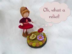 needle felted cartoon doll by SUSANNAH DASHWOOD, via Flickr