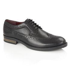 4526986c7d72e Silver Street London Downing Black Leather Formal Brogue Shoe Brogue Shoe,  Brogues, Black Leather