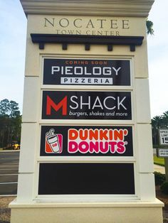 #PieologyPizza , #MShack , and #DunkinDonuts all arriving at the Nocatee Town Center!