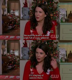 Lorelai Gilmore Girls, My brain is a wild jungle ull of scary jibberish. It's a big bag of weird in there. Best Tv Shows, Best Shows Ever, Favorite Tv Shows, Movies And Tv Shows, Gilmore Girls Quotes, Rory Gilmore, Lorelai Gilmore Quotes, Girlmore Girls, Lauren Graham