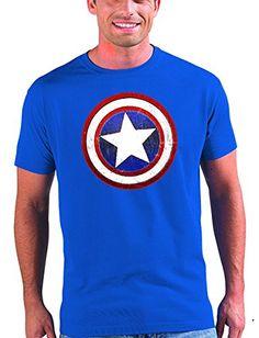 Camiseta Capitan America (Escudo) (Talla: 7-8 años) #camiseta #starwars #marvel #gift