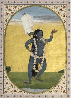 An Illustration depicting the Goddess Mahakalika, circa 1820. India, Punjab Hills. http://www.sothebys.com/content/dam/stb/lots/N08/N08418/N08418-219-lr-1.jpg