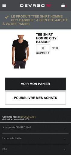 #AXANCE - #Devred #Mobile site #design - Add to #basket #confirmation