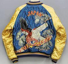 Vintage Tailor Toyo Hawk Eagle Bird Dragon Japan Map Souvenir Sukajan Jacket