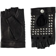 Friis & Company Ceeky Glove ($62) found on Polyvore featuring women's fashion, accessories, gloves, black, accessories miscellaneous, womens-fashion, studded gloves, studded leather gloves and leather gloves