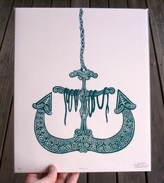 I've got a thing for anchors too.  Love the color as well.