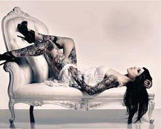 Kat Von D  tatted beauty boudoir style @tess