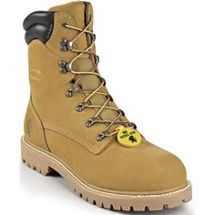 55065 Chippewa Men's IQ Series Safety Boots - Golden Tan www.bootbay.com