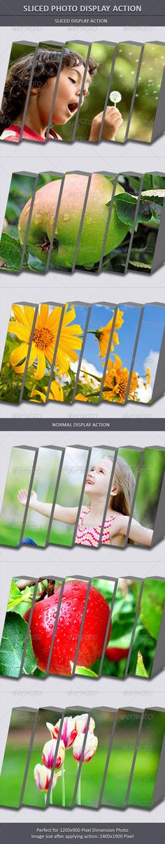 Sliced Photo Display Action  #GraphicRiver
