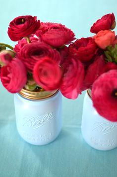 Mimosa Lane: DIY    Ball Mason Jar Vases