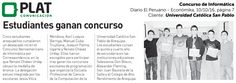 Universidad Católica San Pablo: Triunfo en Concurso de Informática en el suplemento Económika del diario El Peruano (10/10/16)