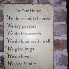 Family rules..