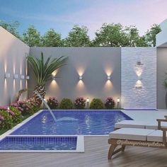 Having a pool sounds awesome especially if you are working with the best backyard pool landscaping ideas there is. How you design a proper backyard with a pool matters. Swimming Pool Landscaping, Small Swimming Pools, Small Pools, Swimming Pool Designs, Backyard Landscaping, Landscaping Ideas, Backyard House, Small Backyard Pools, Backyard Patio Designs
