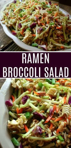 Ramen Broccoli Salad Recipe is ramen noodles and broccoli slaw tossed in an Oriental tangy dressing. Easy to make and is a perfect side dish to a picnic or potluck.