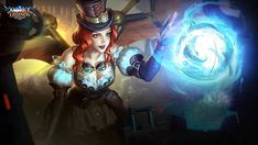 Alice Steam Glider by makinig on DeviantArt Moba Legends, Glitter Photography, Mobile Legend Wallpaper, Fighting Games, Gliders, League Of Legends, Mobiles, Concept Art, Alice