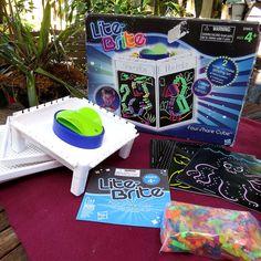 NIB Lite-Brite Four-Share Cube Hasbro Sealed Bag of Pegs Storage Tray & Patterns #Hasbro