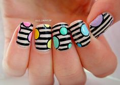 Nailuminium: Stripes And Rounds (+tutorial)