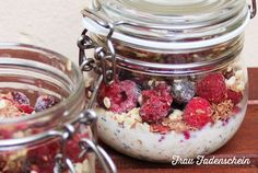 Delicious and healthy breakfast with overnight oats - Ms. Thread - Delicious and healthy breakfast with overnight oats - Flax Seed Pancakes, Oat Pancakes, Smoothie Bowl, Smoothie Recipes, Smoothies, Chocolate Custard, Overnight French Toast, Weight Watchers Breakfast, Milk Recipes