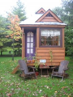 I followed along with the blogging of the construction of this TIny Home so it's kind of strange to now see the couple selling it but baby on the way so understandable - great photos of it inside and out for those interested in a small but beautiful home and for sale for any Canadians that might be interested. :-)