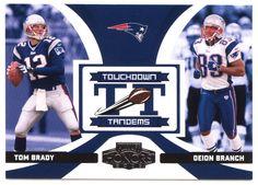 Tom Brady / Deion Branch # TT-14 - 2005 Playoff Honors Football - Touchdown Tandems