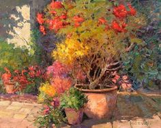 Maher Art Gallery: Kent R. Wallis born January in Ogden, Utah Famous Flower Paintings, Beautiful Paintings, Still Life Flowers, Watercolor Tips, Country Landscaping, Garden Painting, Painting Still Life, Art Background, Ap Art