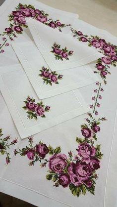 Aml Mustafa's media content and analytics Monogram Cross Stitch, Cross Stitch Rose, Cross Stitch Flowers, Ribbon Embroidery, Cross Stitch Embroidery, Embroidery Patterns, Cross Stitch Designs, Cross Stitch Patterns, Flower Coloring Pages
