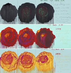 more cy twombly roses...
