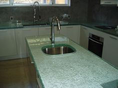 Genial Fusion Glass Countertops   Brooks Custom Brookscustom.com #fusionglass  #textured #undermountsink #