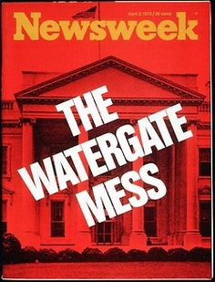"""""""nwkarchivist:  Watergate At 40- Yeah, We Covered That Howard Kurtz: """"Watergate Remembered""""   """""""