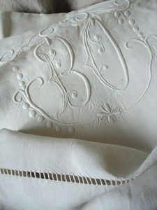 Linen, Lace, Embroidery, Monograms