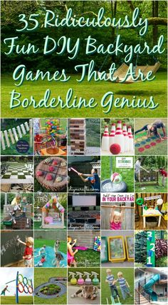 It is that time of year again - time for backyard fun! Looking for some great Family Fun or Party Ideas? You will love these 35 Ridiculously Fun DIY Backyard Games That Are Borderline Genius! Cool Diy, Fun Diy, Family Games, Family Activities, Family Reunion Games, Family Picnic Games, Kids Outdoor Activities, Carnival Activities, Carnival Games