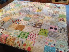 My try at 'low volume' I Spy Quilt, just finished