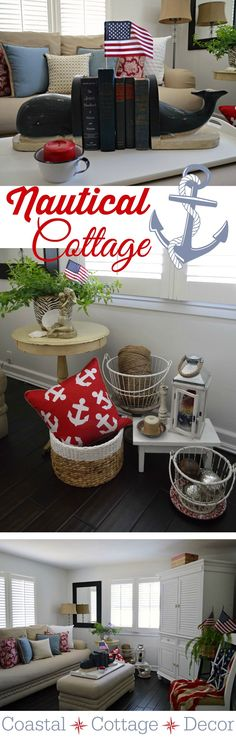 Coastal Cottage Nautical Home Decorating