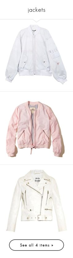 """""""jackets"""" by jordanwilton ❤ liked on Polyvore featuring outerwear, jackets, oversized bomber jackets, layered jacket, bomber style jacket, style bomber jacket, blouson jacket, tops, chaquetas and light pink"""