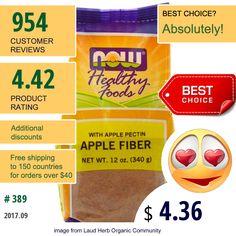 Now Foods #NowFoods #Fiber #ApplePectin #AppleFiberpectin