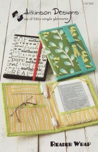 Reader Wrap from Atkinson Designs is a sewing pattern for an e-reader cover