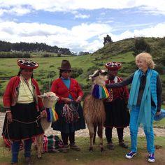 Llamas pose for a photo high above Cusco.