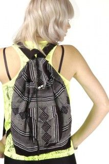 LOVE LOVE LOVE this Vintage Gray and Black Ethnic Backpack- Skinny Bitch Apparel