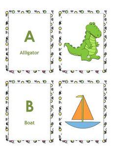 Alphabet A to Z Cards For Boys