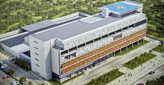 O projeto do Hospital de Caraguatatuba foi certificado no AQUA-HQE. (Fonte: Galeria da Arquitetura).