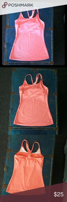 """FABLETICS coral yoga work-out running tank top, XS Work-out/ yoga tank top by FABLETICS in a great light coral or salmon color. Have to re-posh, as it doesn't fit me. Positively NO flaws; it looks new. I can't find a size tag, but it looks like an XS or a sz 0: 13.5"""" across bust, 16"""" pit to hem, 23"""" long. I am a size 4, and it's *way* too small for me. Ships from a smoke-free, expertly dog-supervised home. :-) Fast shipper, top-rated seller & Posh Ambassador! :-) Fabletics Tops Tank Tops"""