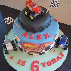 Blaze and the Monster Machines birthday cake.