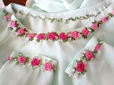 Irresistible Embroidery Patterns, Designs and Ideas. Awe Inspiring Irresistible Embroidery Patterns, Designs and Ideas. Embroidery On Kurtis, Kurti Embroidery Design, Hand Embroidery Videos, Hand Embroidery Flowers, Hand Work Embroidery, Flower Embroidery Designs, Simple Embroidery, Hand Embroidery Stitches, Embroidery Fashion