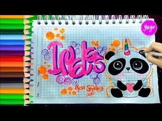 "IDEAS PARA MARCAR TUS CUADERNOS-CÓMO DIBUJAR ""PANDICORNIO""Inglés-Yaye - YouTube Diy Notebook, Notebook Covers, Cute Notes, Love Pictures, Smash Book, School Projects, My Little Pony, Ideas Para, Banner"