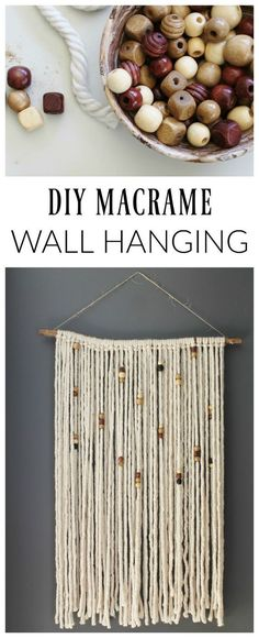 Learn how to create this simple DIY macrame wall hanging at cityfarmhouse.com