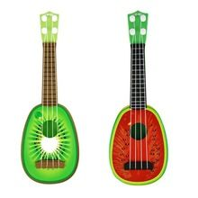 2017 Baby Kids Children Toys Design Children Learn Guitar Ukulele Mini Fruit Can Play Musical Instruments Toys New(China (Mainland))