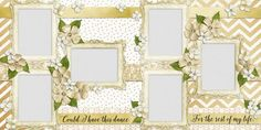 Double Layout Wedding Scrapbook pages by EZscrapbooks.com We offer designs in both Physical AND digital formats. Just add photos!