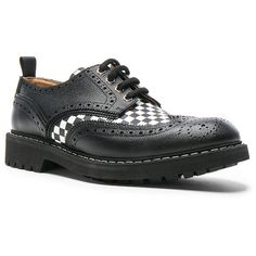Givenchy Checkerboard Leather Dress Shoes ($1,155) ❤ liked on Polyvore featuring men's fashion, men's shoes, men's dress shoes, dress shoes, mens leather dress shoes, givenchy mens shoes, mens leather shoes, mens dress shoes and mens dress loafers shoes