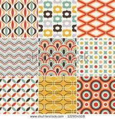 retro seamless abstract geometric pattern - stock vector
